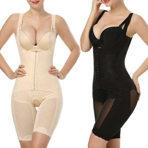 147f828af4 Women Fashion Slimming Open Bust Shapewear Bodysuit Thigh Slimmer Belly Shaper  Full Body Firm Control Bodysuit