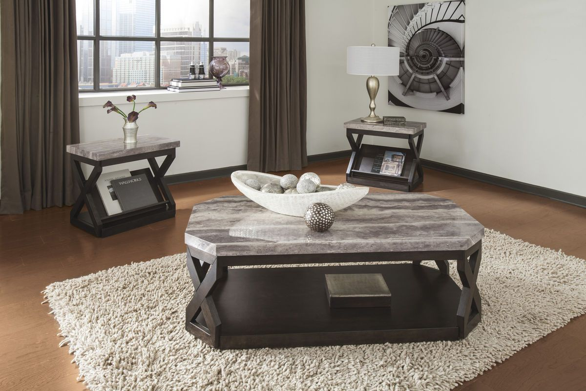 Radilyn Occasional Table Set By Ashley With Images Living Room