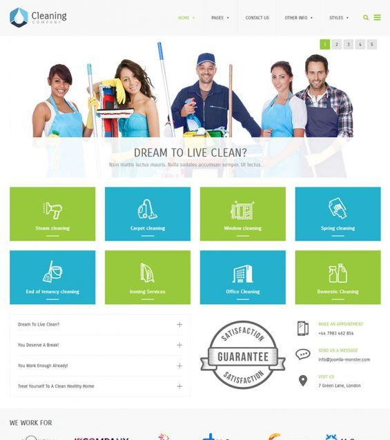 watch the short video presentation of pe cleaning company, Presentation templates