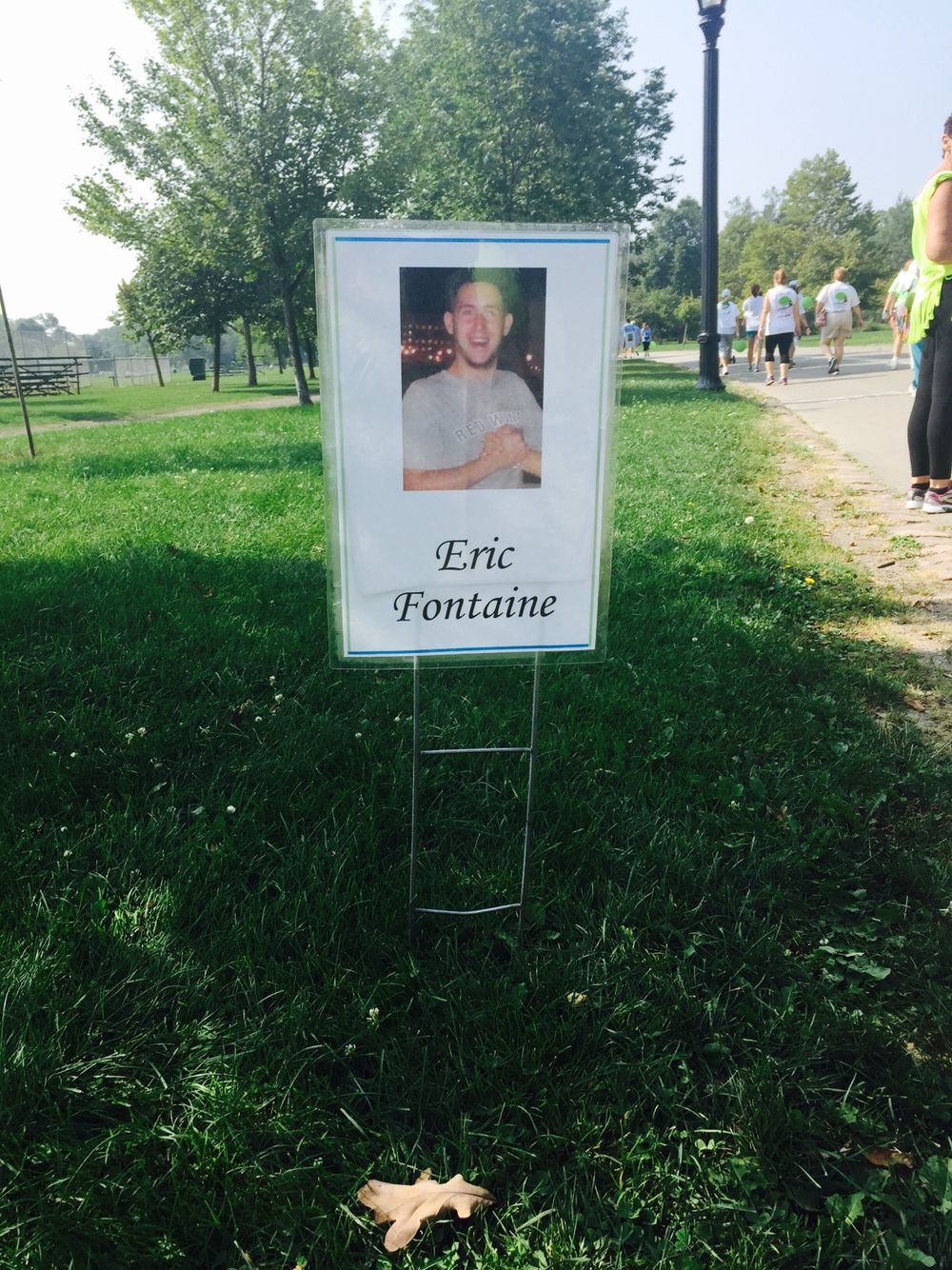 The Donate Life walk this year September 6, 2015. I miss you and love you so much Eric.