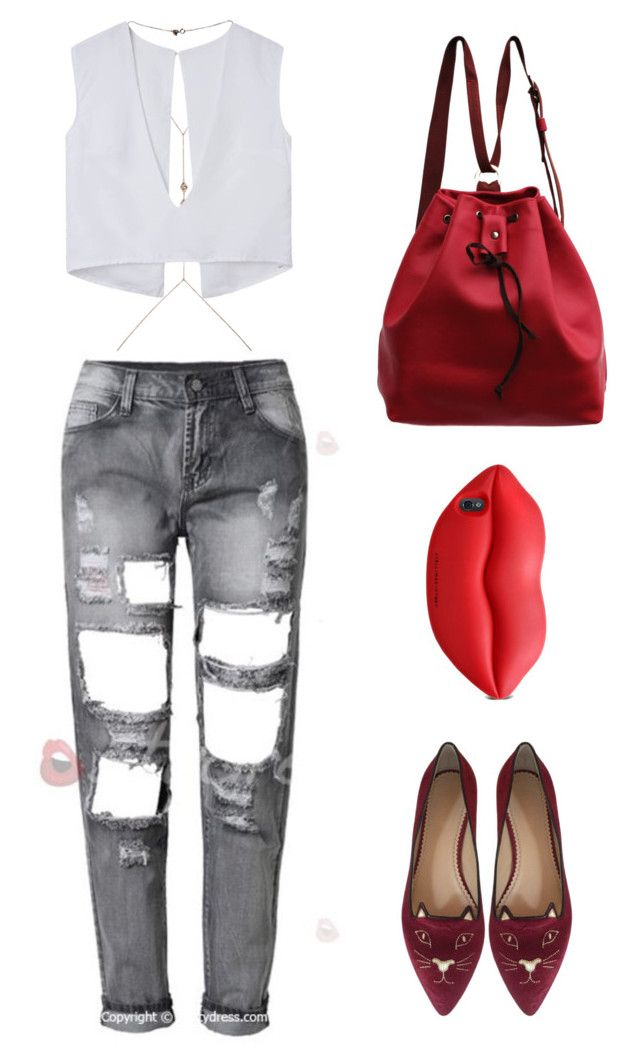 """""""Red All Over"""" by fulltimefashionista on Polyvore featuring Sw/Tch, Charlotte Olympia, STELLA McCARTNEY, women's clothing, women, female, woman, misses and juniors"""