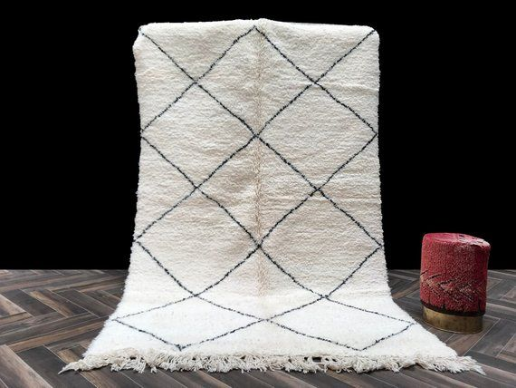 Gorgeous small Beni Ourain rug 6x8, Moroccan Rug, Berber ...