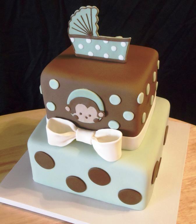 monkey cake baby shower