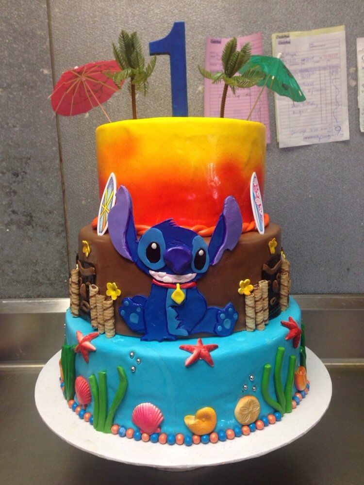 Lilo And Stitch 1st Birthday Cake Yelp With Images Stitch