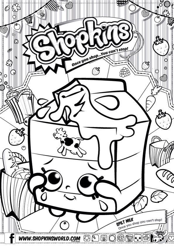 Shopkins Coloring Pages Popcorn. Shopkins Colour Color Page Spilt Milk ShopkinsWorld shopkins free printables  Google Search party