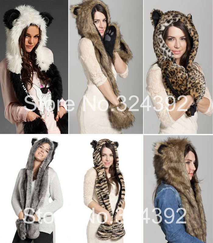 fur animal hats | Fur Animal Hat Scarf and Gloves Price ...