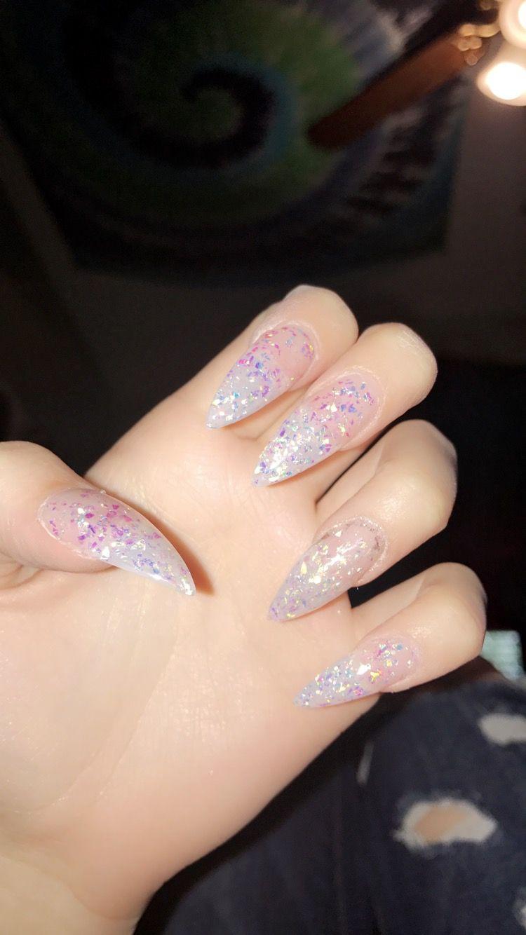Acrylic W Glitter Powder Powder Glitter Nails Acrylic Nails Coffin Glitter Glitter Tip Nails