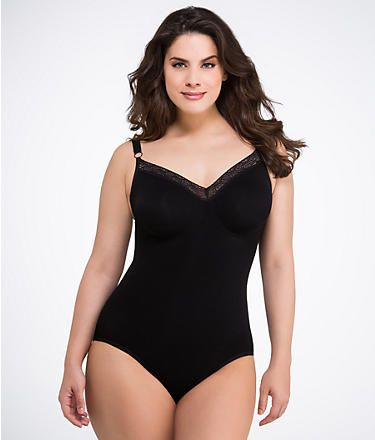 cb3b7e065 BodyWrap Firm Control Bodysuit Plus Size Shapewear 45006 at  BareNecessities.com