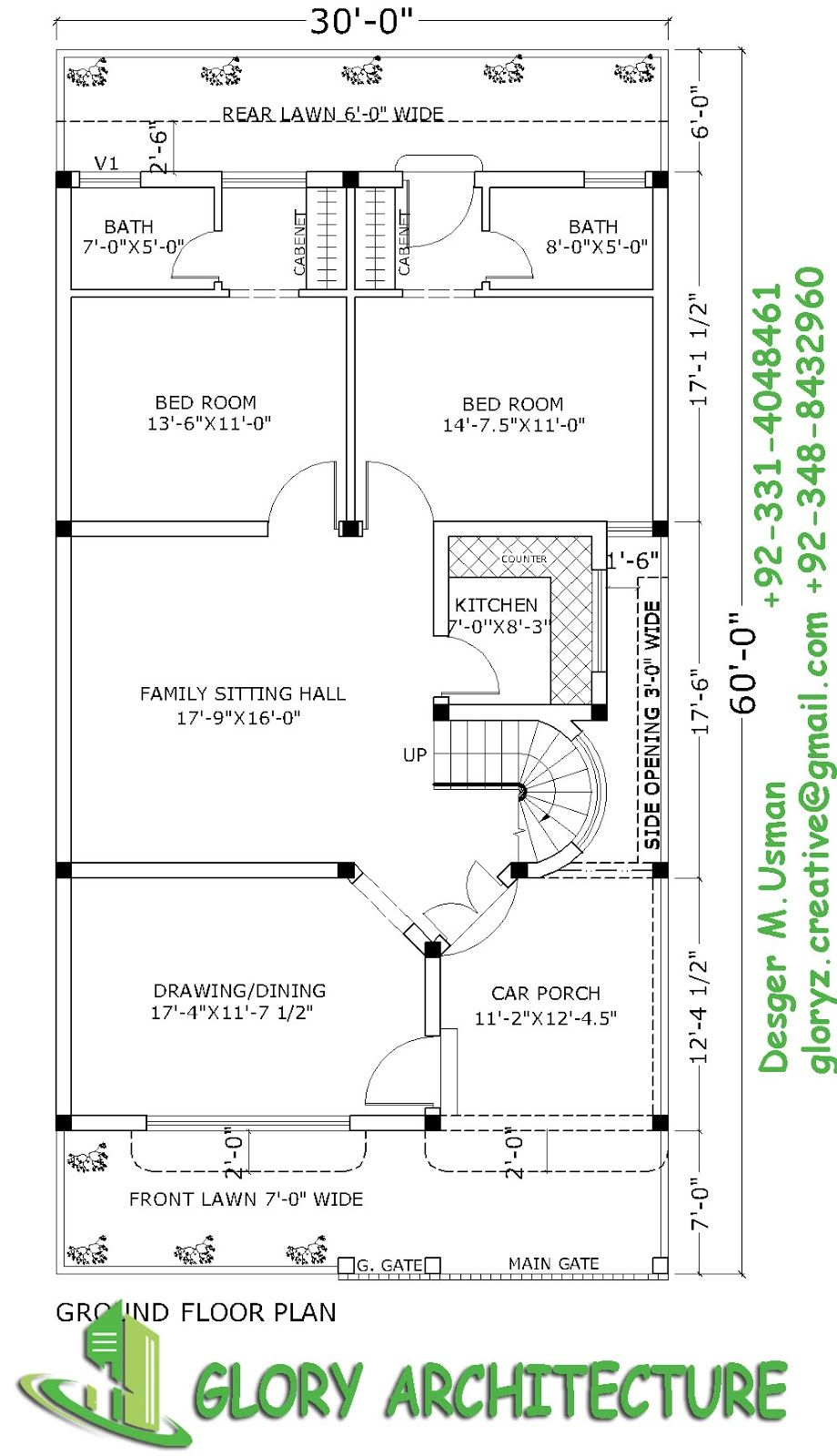 30x60 House Plan Elevation 3d View Drawings Pakistan House Plan Pakistan House Elevation 3d Elevation 30x50 House Plans Best House Plans My House Plans