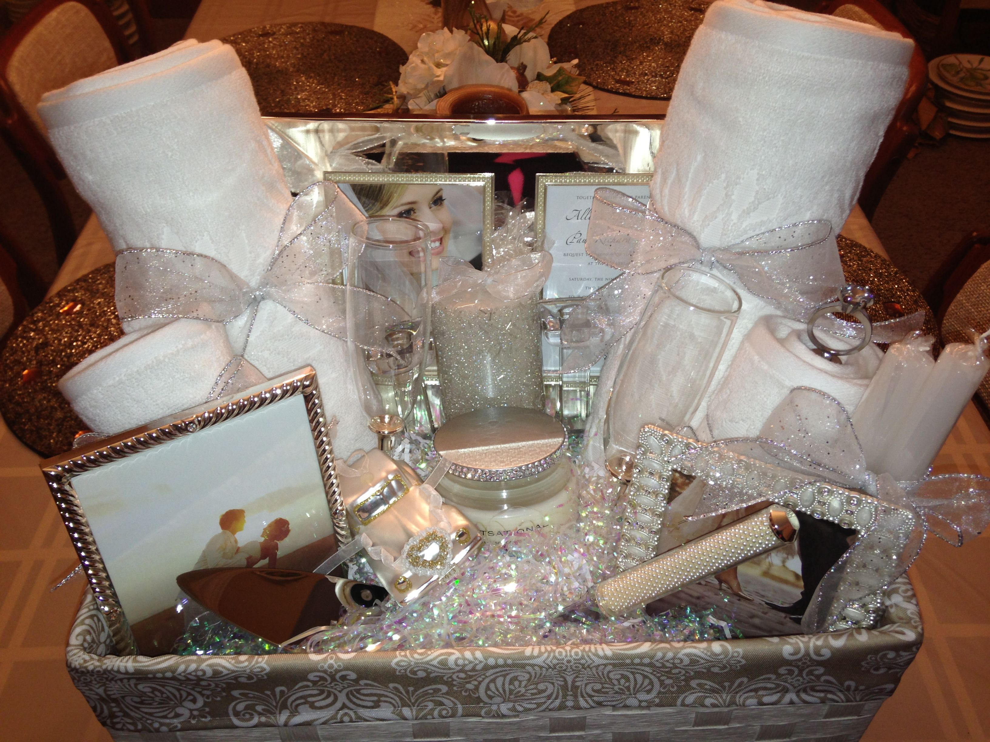 Handmade Wedding Gifts For Bride And Groom: Bridal Shower Gift Basket Ideas. Ideasthatsparkle.com On
