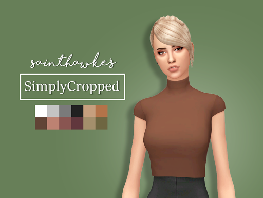 Simply Cropped Top / Sims 4 Custom Content