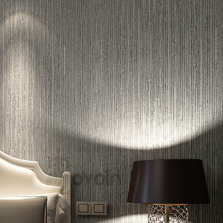 Modern Textured Metallic Wallpaper Dining room wallpaper