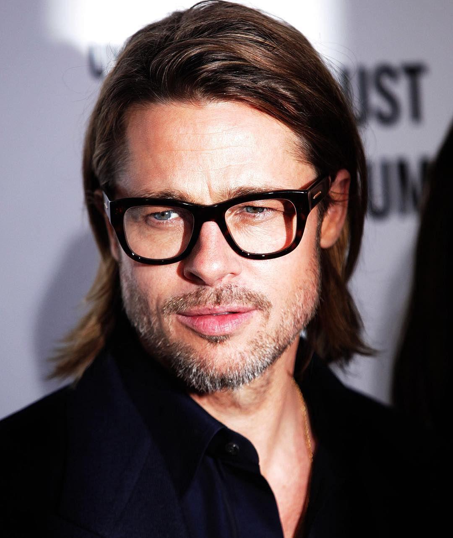 e34f64c3a5541 Brad Pitt Long Haircut