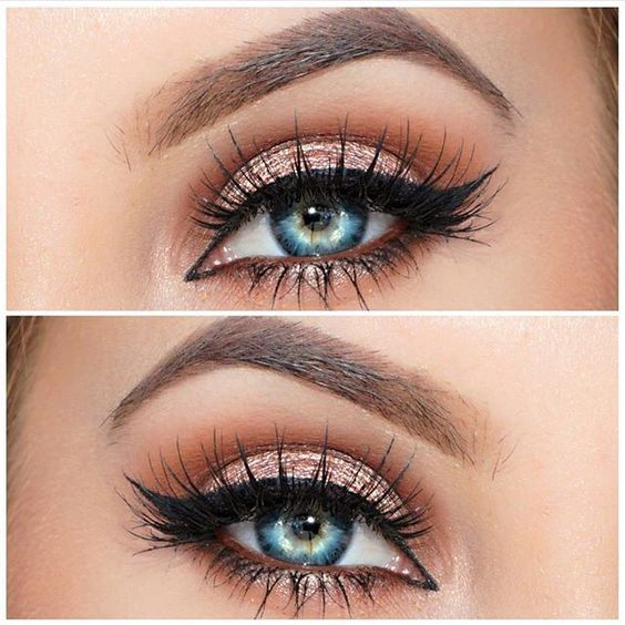 Rose gold eyeshadow look: