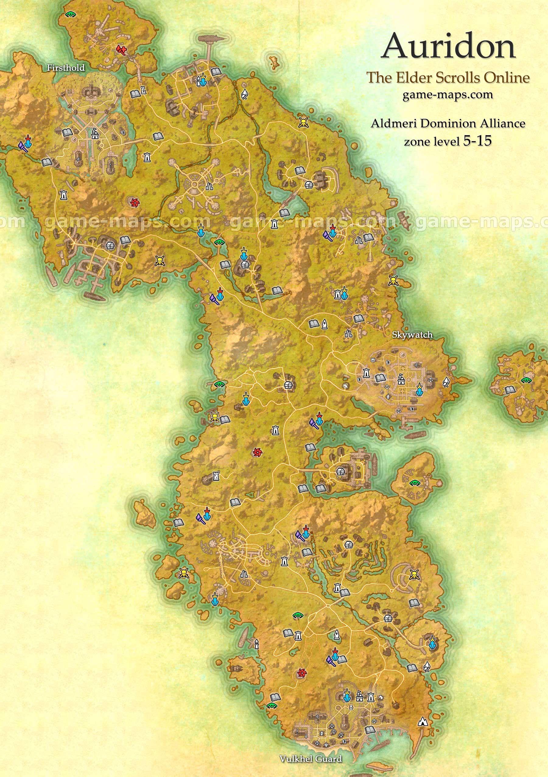 Auridon Map - The Elder Scrolls Online   Wallpapers   Elder scrolls ...
