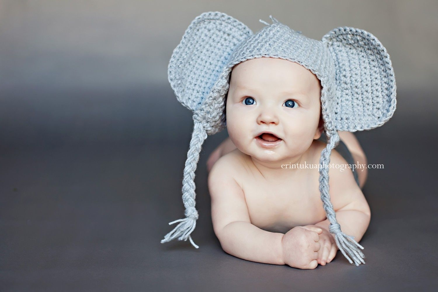 0e1dbca9fed Elephant Hat PROP or COSTUME Newborn to 18 Month sizes.  25.00