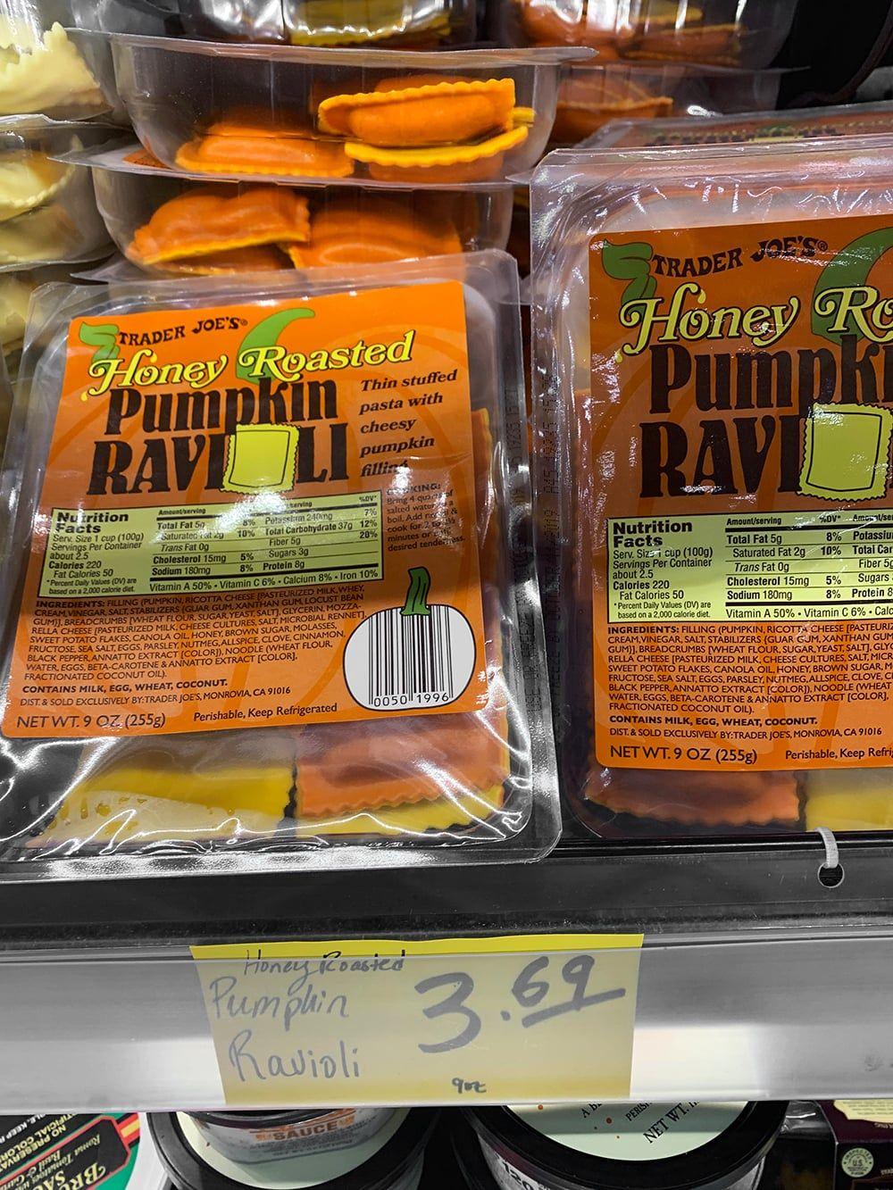 Honey Roasted Pumpkin Ravioli (4) Pumpkin ravioli