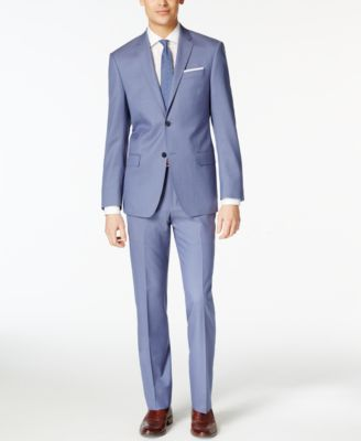 f50869ee DKNY Light Blue Solid Extra Slim-Fit Suit | Bridesmaid/man Outfit ...