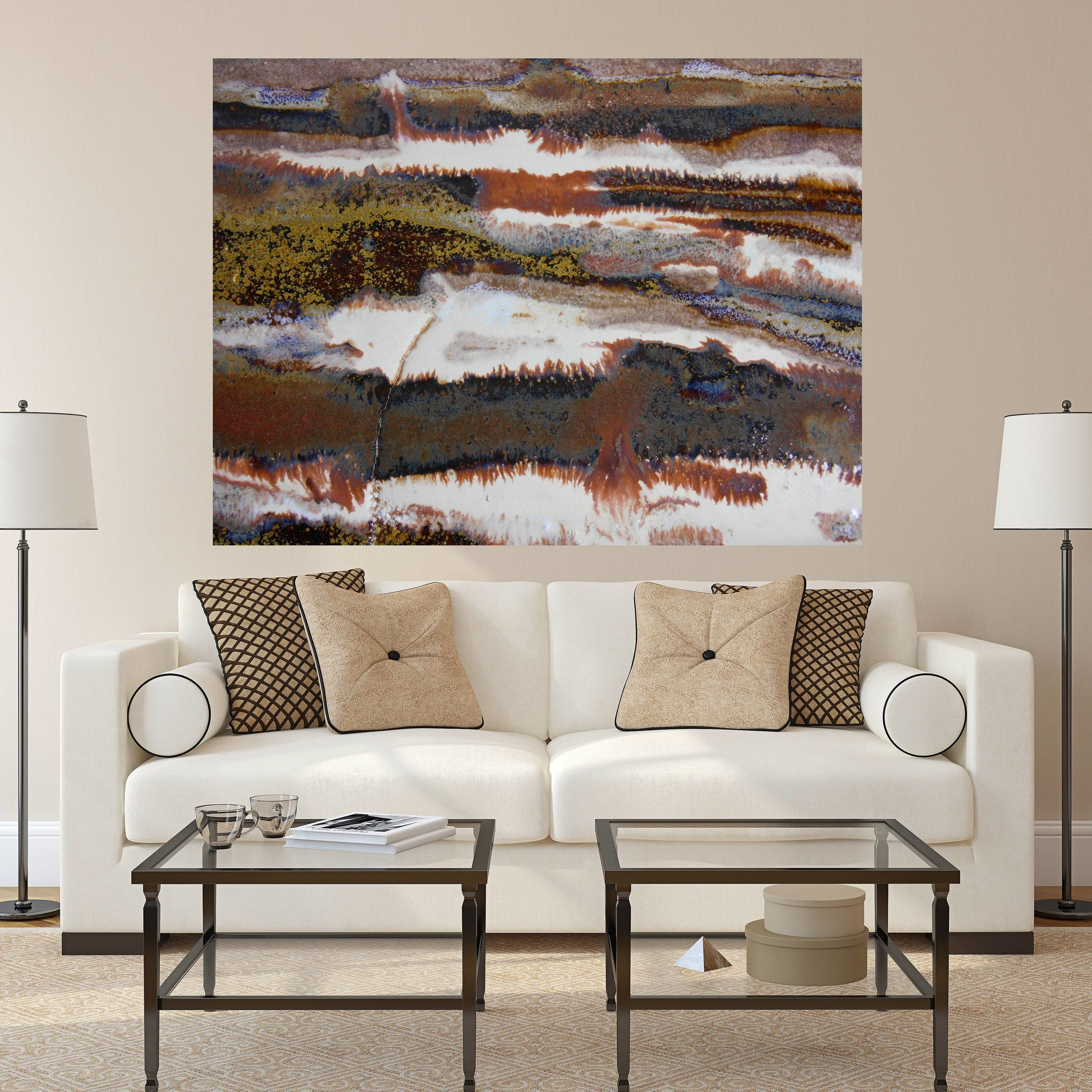 How To Create A Stylish Living Room With Colorful Artwork Large