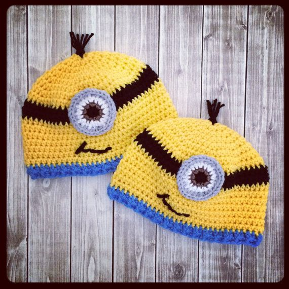Minion Beanie Despicable Me Crochet Hat By Lainetreecreations