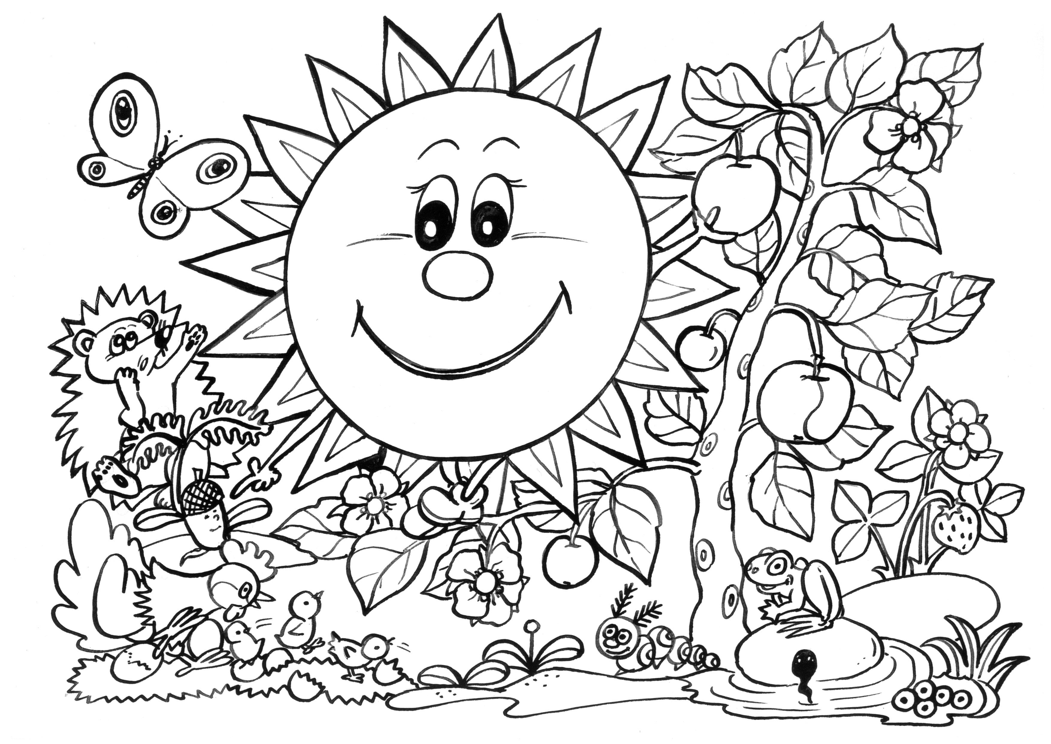 Spring Coloring Pages For Adults #c6f3e9e21 | Adults Color Too ...