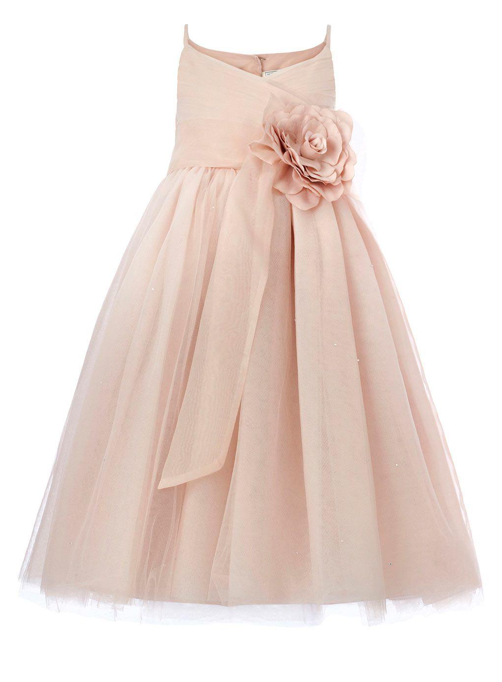 Lydia blush bridesmaid dress child dresses young bridesmaids