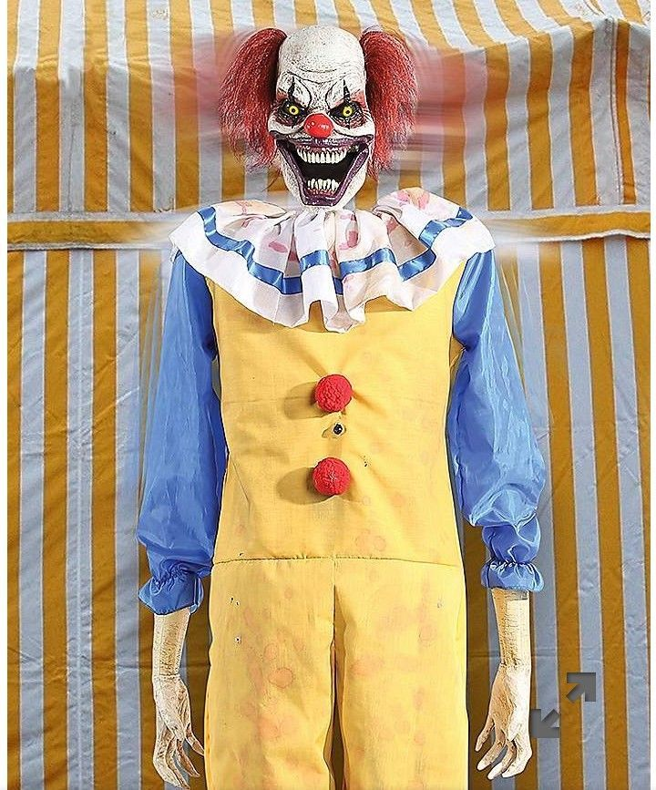 Twitching Animated Life Size Clown Halloween Haunted House