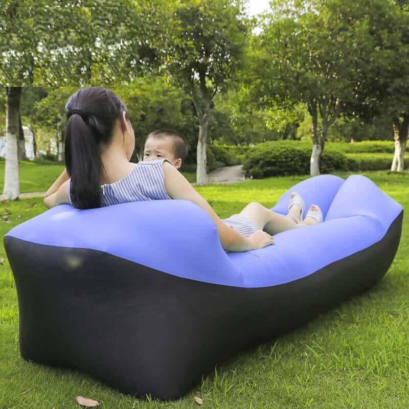 Inflatable Couch Lazy Sofa Bed Beach Air Sofa Men Beach