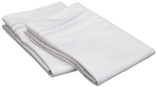 Egyptian Cotton 1600 Thread Count King Pillowcase Set, Solid White with White trim by Luxor Treasures. Save 49 Off!. $51.85. 100% Egyptian Cotton. Solid colors available: gold, ivory, sage, taupe and white. 100-percent egyptian cotton. Set includes: two pillowcases 21 x 42. Care instructions: machine washable please follow the care instructions on the label carefully to minimize wrinkling. The Ultimate in Luxury Featuring 1600 Thread Count 100-Percent Egyptian Cotton this pillowcase set...