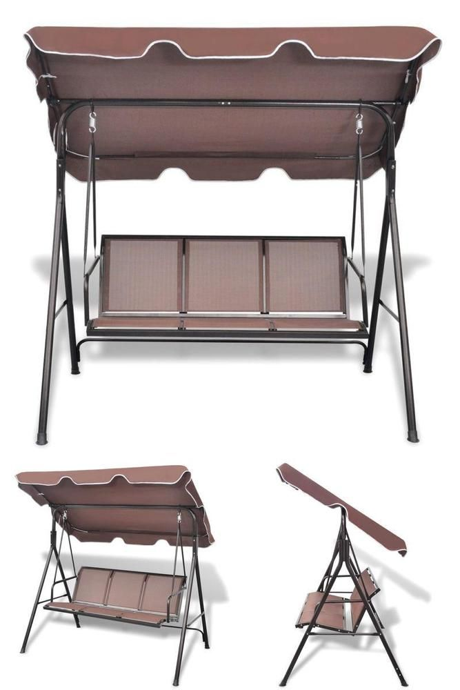 Wondrous Metal Swing Seat Outdoor Patio Hanging 3 Seater Chair Bench Creativecarmelina Interior Chair Design Creativecarmelinacom