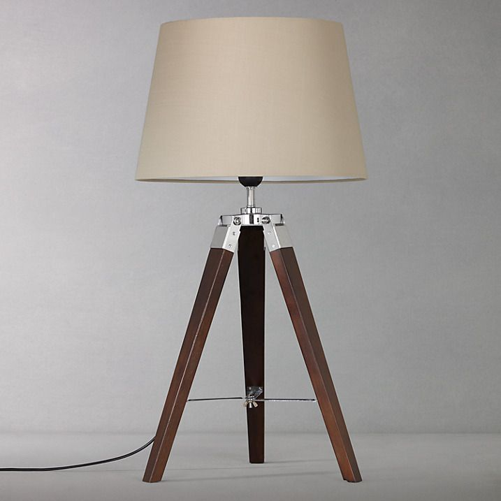 Buy john lewis jacques dark wood table lamp brown online at buy john lewis jacques tripod table lamp from our desk table lamps range at john lewis mozeypictures Gallery