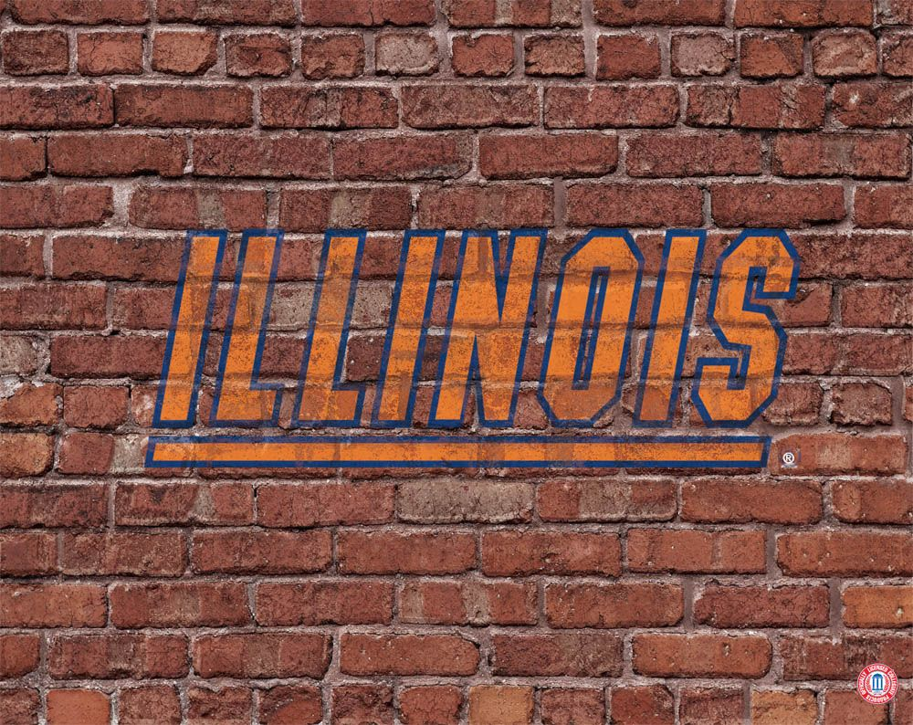 Illinois Fighting Illini Brick Wall Logo Illinois Fighting Illini Fighting Illini Illinois