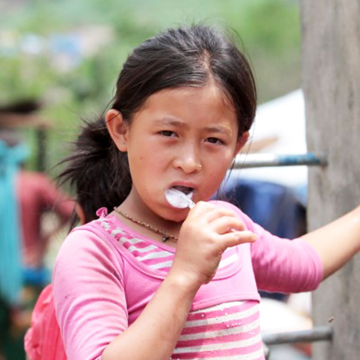A TOOTHBRUSH MAY JUST BE A BIT OF PLASTIC AND NYLON, but after the earthquakes in Nepal, they are part of life-saving hygiene kits!  Palm Valley Pediatric Dentistry!