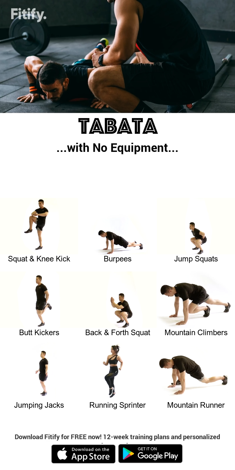 Tabata Routine with NO Equipment