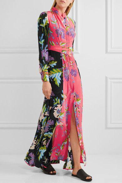 Best Seller For Sale Floral-printed silk dress Diane Von Fürstenberg Cheap Sale Shop Offer Discount Clearance VM0m0UPoKf