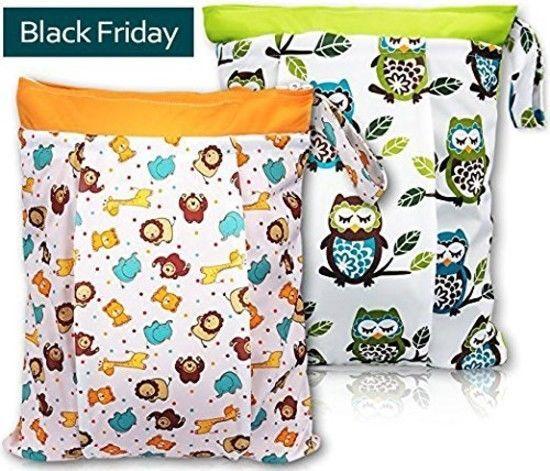 Bontime Wet Bag For Cloth Diapers Double Pockets Antisli