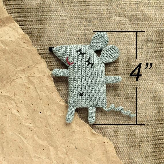 Crochet baby toy small mouse pattern diy gift idea