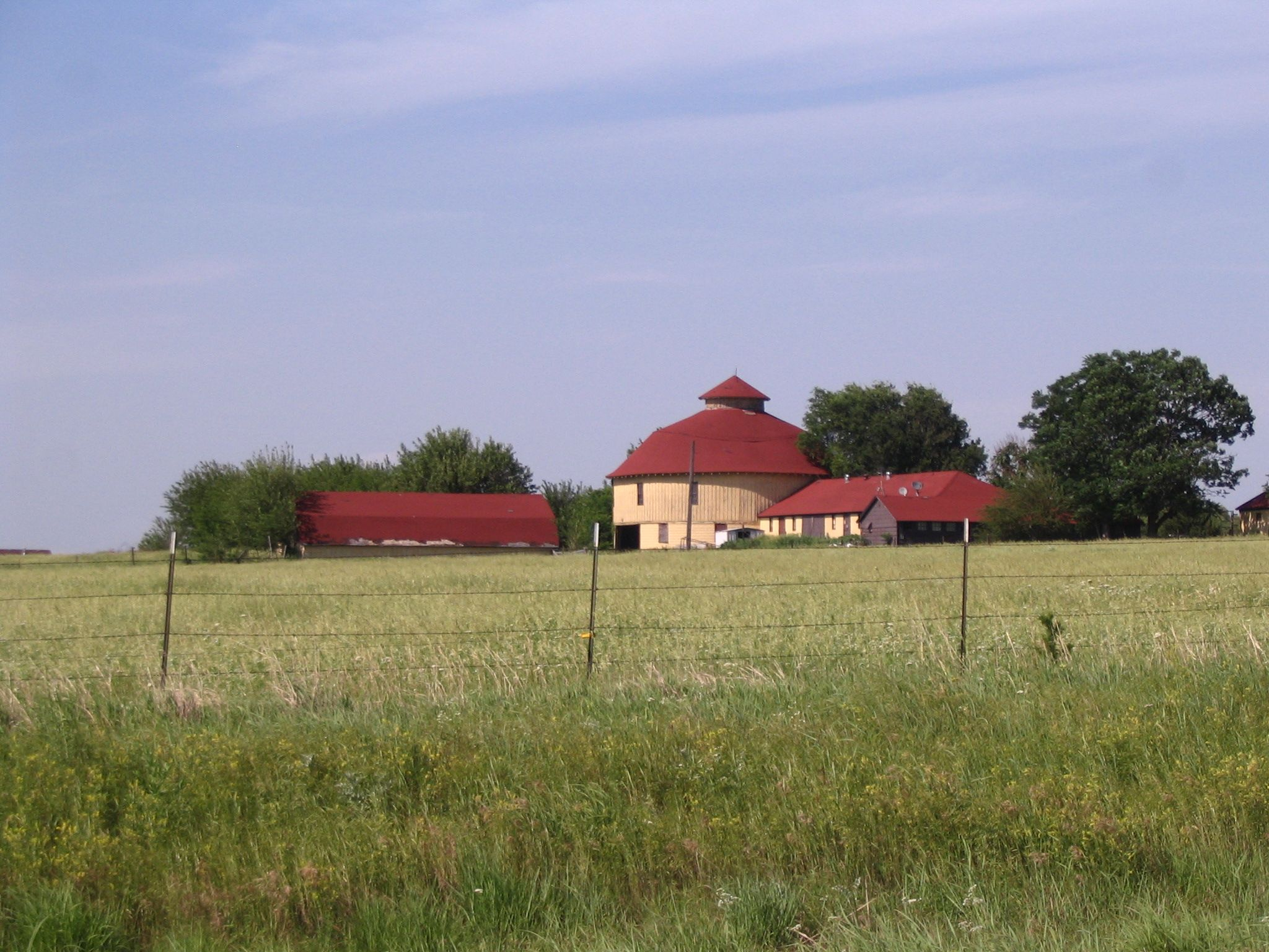 The Round Barn Ranch, Derby, Kansas, is home to the historic Round Barn built by renowned architect, Benton Steele in 1910.