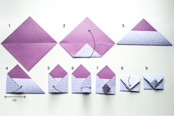 Origami Briefumschlag Falten