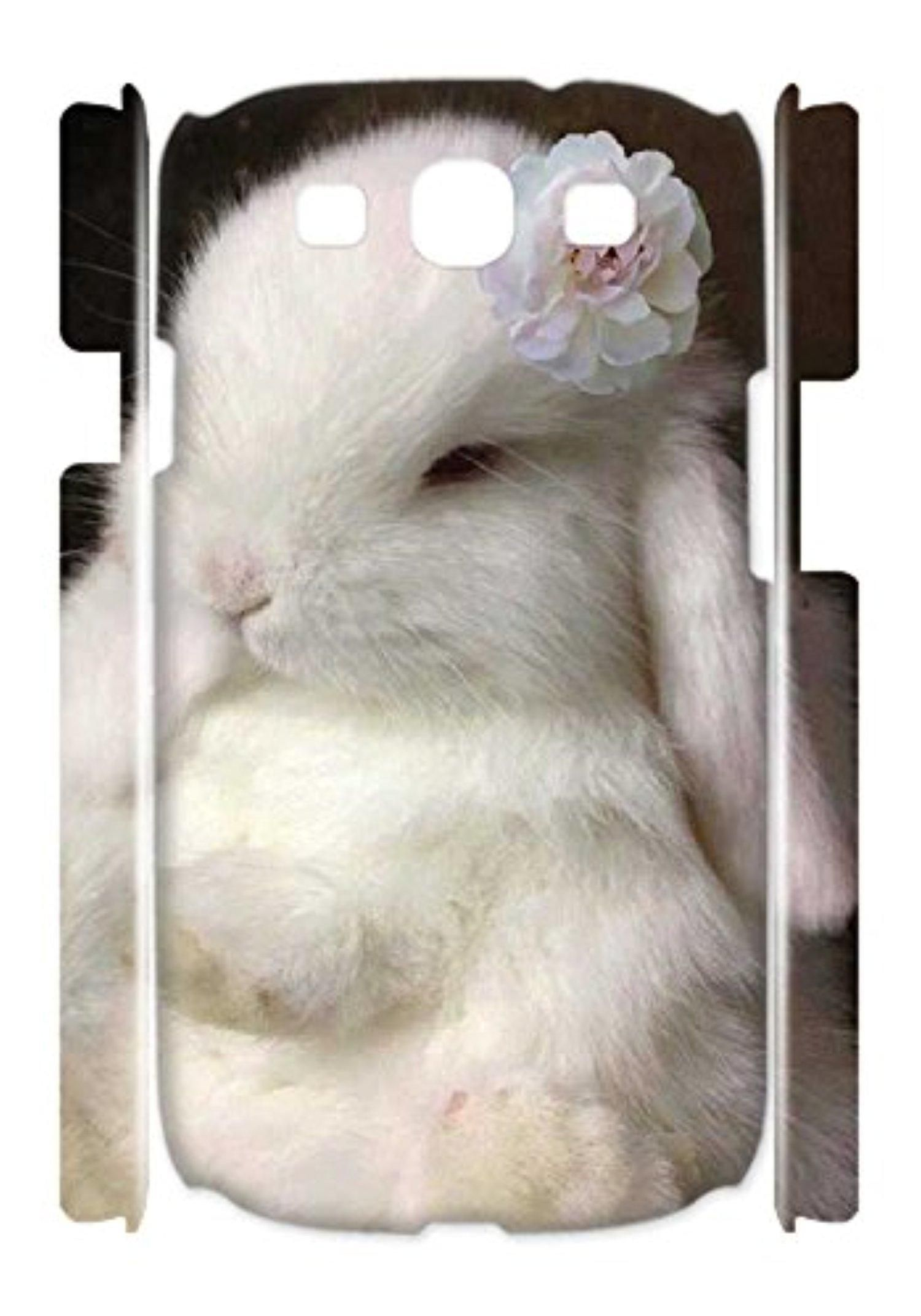 Customized Cute Bunny Personalized Cell Phone Case for Samsung Galaxy S3(3D) - Brought to you by Avarsha.com
