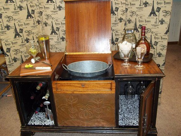 Liquor cabinet · Check it out! Antique Record Player Repurposed Bar/Drink  Station in Sugar Grove, - Check It Out! Antique Record Player Repurposed Bar/Drink Station In