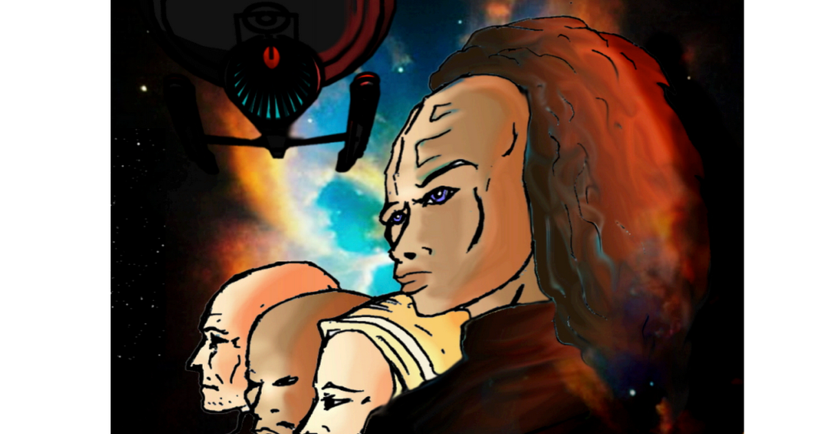 To celebrate the new series I thought I'd share this Star Trek fan comic I created a few years ago bringing together my favorite characters and predicting some elements of Discovery!