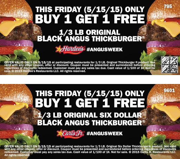 Hardees Deal! Restaurant, Burger, Angus