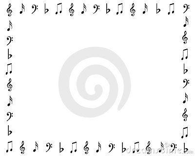 Music Symbols Border Doodles Pinterest Music Symbols Symbols