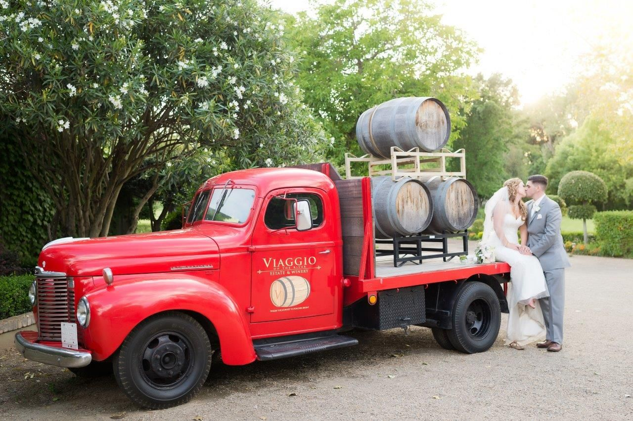 Viaggio Estate Winery Wine Country Winery Red Truck