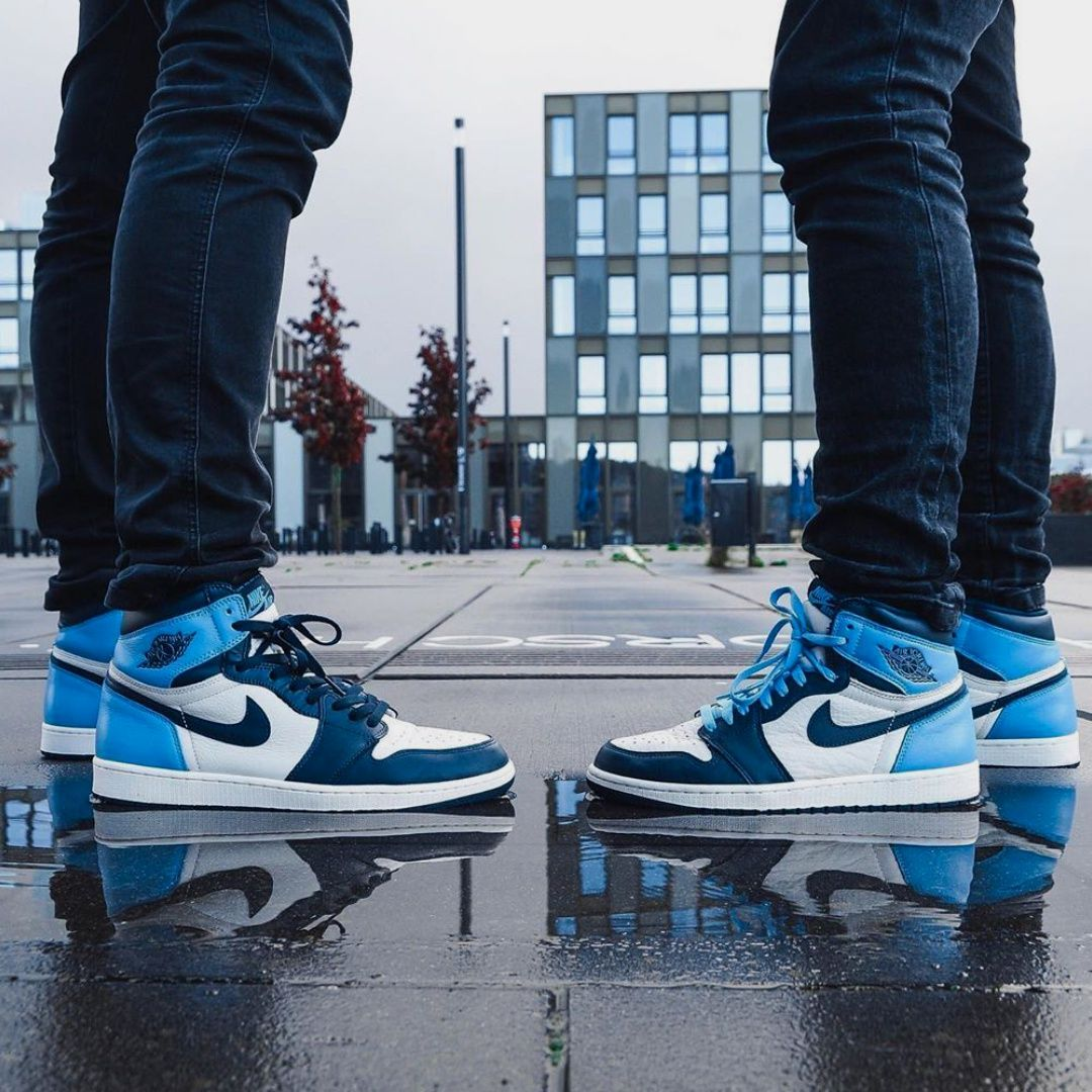 Jordan 1 Retro High Obsidian Unc 2020 Thanksgiving Outifts Trends Outfit Casual Shoes In 2020 Jordan Casual Shoes Jordan 1 Retro High Air Jordans