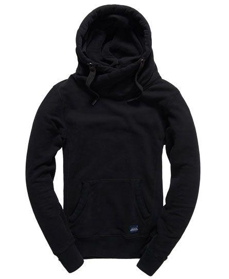 Hoodie Capuche sweatjacke pullover sweat-shirt Gris//Noir Contraste Neuf