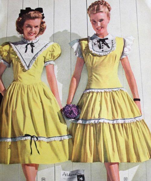 4bbdc2536a4c 1940s Teenage Fashion: Girls | The History Of Fashion | Fashion ...