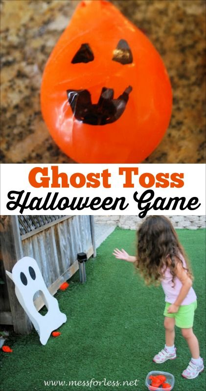 Halloween Game - Ghost Toss | Halloween games, Tossed and ...