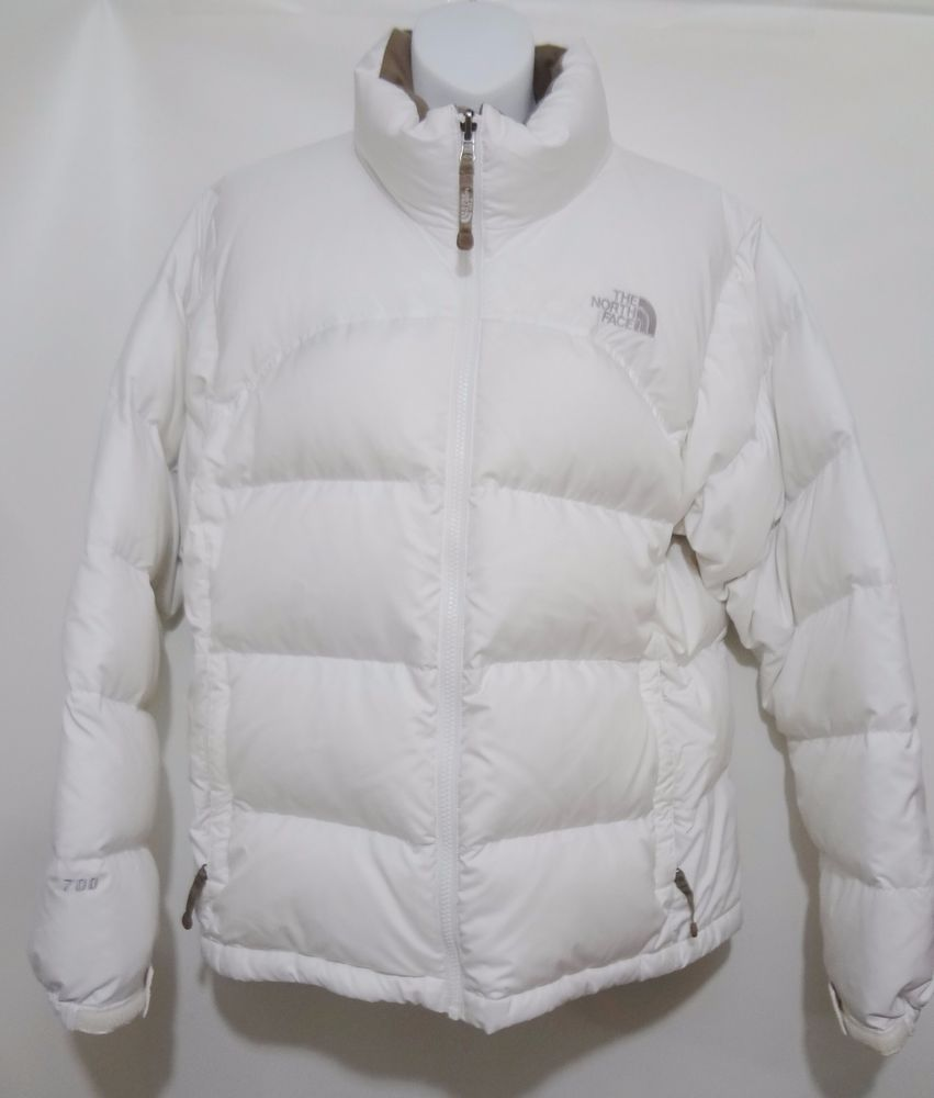 b89bb1673 The North Face 700 White Nuptse Goose Down Puffer Parka Jacket ...